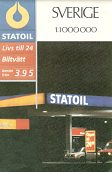 1987 Statoil map of Sweden