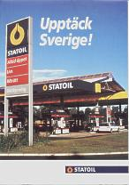 1996 Statoil map of Sweden