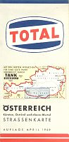1969 Tank Rumwolf/TOTAL map of Southern Austria