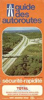 1977 Total autoroute map booklet