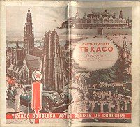 1939 Texaco map of Belgium