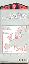 1992 Texaco map of Belgium/Luxembourg
