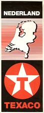 1998 Texaco map of the Netherlands