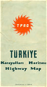 1964 TPAO map of Turkey