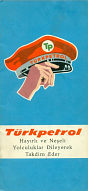 1966 Turkpetrol map of Turkey