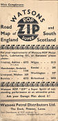 1936 Watsons ROP ZIP map of England and South Scotland