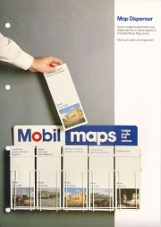 Advert for 1982 Mobil map rack