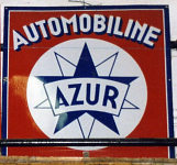 Automobiline/Azur enamel sign from the 1930s or 40s