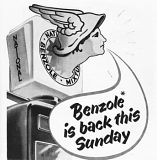 January 1953 advert for National Benzole