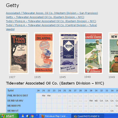 Getty page from RMCA map catalog