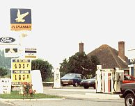 Ultramar station on A345 North Newton, Wiltshire, in 1983