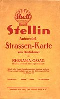 1926 Shell Stellin map of Germany
