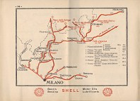 Map page from 1927 Shell Italy booklet