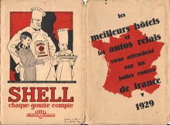 1929 Shell/Auto Relais map of France