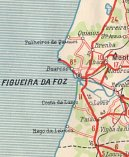 Extract (Figuera da Foz) from ca1948 Shell map of Portugal