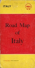 c1955 Shell Foldex map of Italy