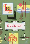 1959 Shell Map booklet of Sweden
