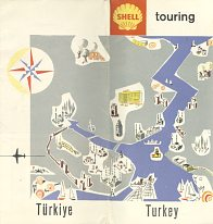 1961 Shell map of Turkey