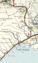 Extract from 1961 Shell map of Turkey