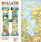 1962 German Shell Touring Service map brochure of Holland