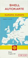 1964 Shell map of Europe