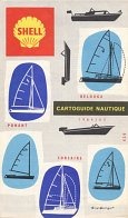 1964 Shell boating map - Cartoguide Nautique