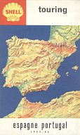 1965/6 Shell map of Spain/Portugal