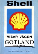 1976 Shell map of Gotland