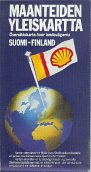 1984 Shell map of Finland