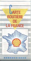 1988 Shell map of France