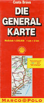1996 Shell/Die General Karte map of the Costa Brava