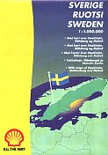 1997 Shell map of Sweden
