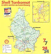 1998 Shell map brochure of Luxembourg - map
