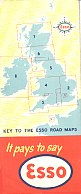 Rear of 1949 (?) British Esso maps