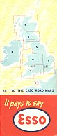 Rear of 1950-3 (?) British Esso maps