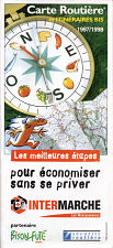 1997-8 Intermarche (Bison Fute) map of France